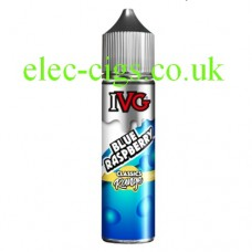 a white background with a bottle of IVG Classics Range: Blue Raspberry 50 ML E-Liquid