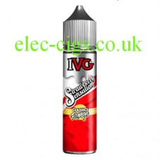 image is of a bottle of IVG Classics Range: Strawberry Sensation 50 ML E-Liquid on a white background