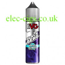 image shows a bottle of IVG Menthol Range: Black Berg 50 ML E-Liquid