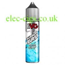image shows a bottle of IVG Menthol Range: Blue Berg Burst 50 ML E-Liquid