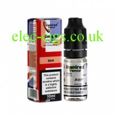 Image shows a bottle and box, on a white background, of  Bens on Gold 10 ML E-Liquid from Inspired Vapour