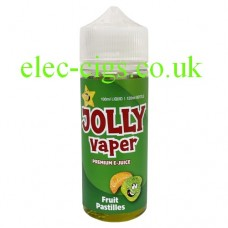Image shows a bottle of Fruit Pastilles 100 ML E-Liquid from Jolly Vaper