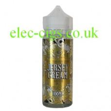Image is of a bottle of Jersey Cream Banana Split 100 ML E-Liquid