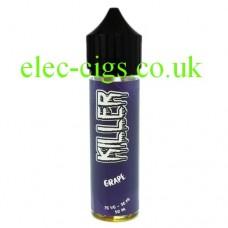 image shows a bottle of Grape 50 ML E-Liquid by Killer