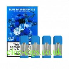 Blue Raspberry Ice 20 MG Nicotine Salt Pods x 4 by Kilo