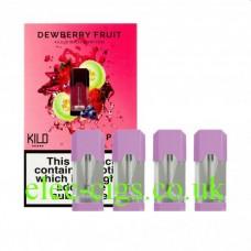 Dewberry Fruit 20 MG Nicotine Salt Pods x 4 by Kilo