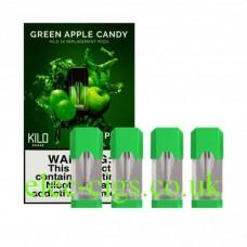 Green Apple Candy 20 MG Nicotine Salt Pods x 4 by Kilo