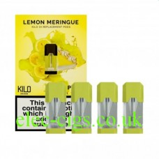 Lemon Meringue 20 MG Nicotine Salt Pods x 4 by Kilo