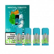 Menthol Tobacco 20 MG Nicotine Salt Pods x 4 by Kilo
