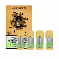 Milk Coffee 20 MG Nicotine Salt Pods x 4 by Kilo