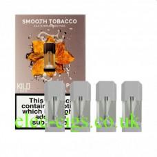Smooth Tobacco 20 MG Nicotine Salt Pods x 4 by Kilo