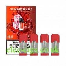 Strawberry Ice 20 MG Nicotine Salt Pods x 4 by Kilo