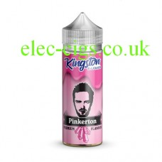 Images show a bottle with a pink label which holds Kingston 100 ML Zingberry Range 70-30 Pinkerton E-Liquid