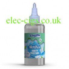 image shows a bottle of Minty Menthol 500 ML E-Liquid by Kingston