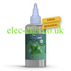 A massive bottle of Menthol 500 ML E-Liquid by Kingston