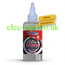 A large bottle of Black Jack Sweets 500 ML E-Liquid by Kingston on a white background
