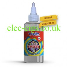 A massive bottle of Refreshing Chews Sweets 500 ML E-Liquid by Kingston