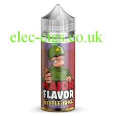 Image of a bottle of Major Flavor Beetle-Juice 100 ML E-Liquid on a white background