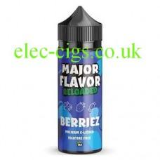 Image of a bottle of Major Flavor Reloaded Berriez 100 ML E-Liquid
