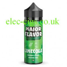image of a bottle of Major Flavor Reloaded Lime Cola 100 ML E-Liquid