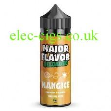 image of a bottle of Major Flavor Reloaded Mangice 100 ML E-Liquid