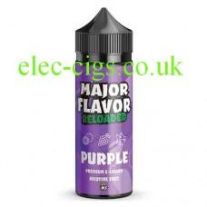 image of a bottle of Major Flavor Reloaded Purple 100 ML E-Liquid