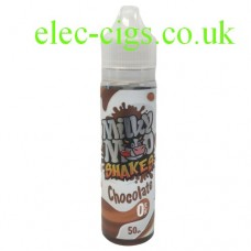 Image shows a bottle of Chocolate Shake 50 ML E-Liquid by Milky Moo Shakes
