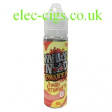 Image shows a bottle of Vanilla Strawberry Shake 50 ML E-Liquid by Milky Moo Shakes
