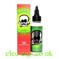 Lime Jelly Tots 70 ML E-Juice 80-20 (VG/PG) by Misfits