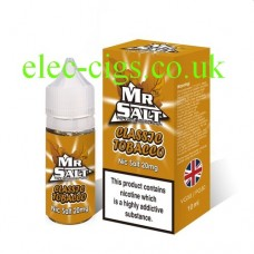 image shows a box of Classic Tobacco 10 ML Nicotine Salt E-Liquid by Mr Salt