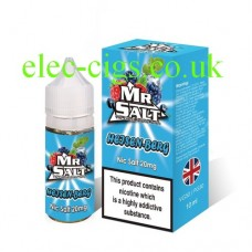 image shows a box of Heisen-Berg 10 ML Nicotine Salt E-Liquid by Mr Salt