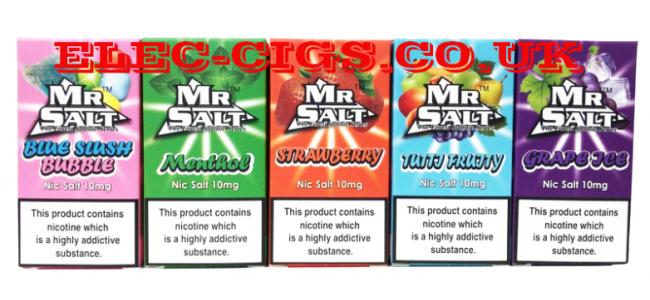 Image of 5 of the choices available in The Finest Salt Nicotine Series by Mr Salt