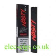 Image shows the Nasty Fix Blackcurrant Cotton Candy 300 Puff Disposable E-Cigarette with 20mg of Nicotine Salt