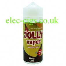 image shows a bottle of Fizzy Cola 100 ML E-Liquid from Jolly Vaper
