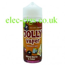 image shows a bottle of Mixed Berry and Cider 100 ML E-Liquid from Jolly Vaper