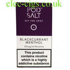 Blackcurrant Menthol High Nicotine E-Liquid by Pod-Salt