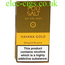 Havana Gold Nicotine E-Liquid by Pod-Salt