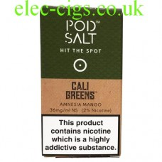 Amnesia Mango (Cali Greens) High Nicotine E-Liquid by Pod-Salt