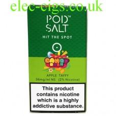 Apple Taffy (Candy Rush) High Nicotine E-Liquid by Pod-Salt