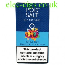 Bubble Blue (Candy Rush) High Nicotine E-Liquid by Pod-Salt