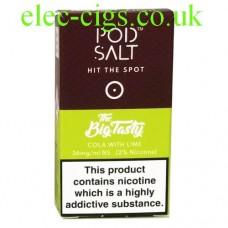 Cola with Lime (The Big Tasty) High Nicotine E-Liquid by Pod-Salt