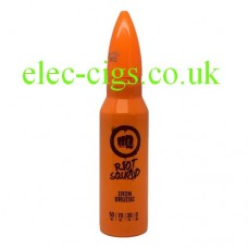 Image shows a bottle of Riot Squad 50 ML E-Liquid Iron Bruise