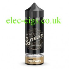 image shows a large bottle of Ruthless E-Liquid 100 ML Coffee Tobacco
