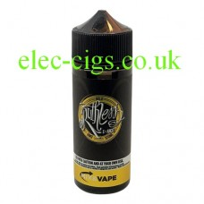 image shows a large bottle of Ruthless E-Liquid 100 ML Gold