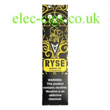 Image shows the box containing the Ryse All-in-One Disposable E-Cigarette Banana Ice