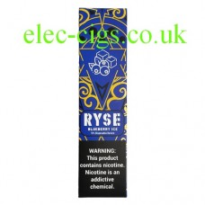 image shows a box of Ryse All-in-One Disposable E-Cigarette Blueberry Ice