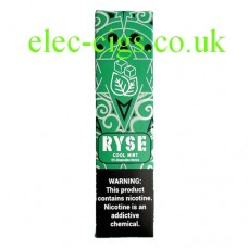 image shows a box of Ryse All-in-One Disposable E-Cigarette Cool Mint