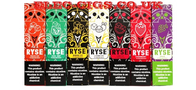 Image shows several of the Ryse All-in-One Disposable E-Cigarettes