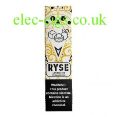 image shows a box of Ryse All-in-One Disposable E-Cigarette Lychee Ice
