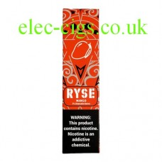 image shows a box of Ryse All-in-One Disposable E-Cigarette Mango